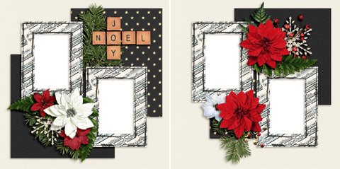 Joy Noel - Christmas - Digital Scrapbook Pages - INSTANT DOWNLOAD - 2019