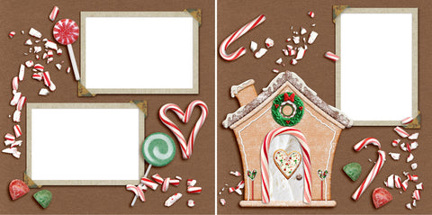 Christmas Sweets - Digital Scrapbook Pages - INSTANT DOWNLOAD - 2019