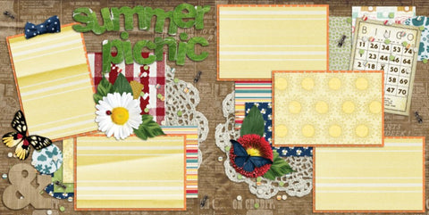 Summer Picnic - 171 - EZscrapbooks Scrapbook Layouts July 4th - Patriotic, Summer, Swimming - Pool