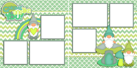 Gnome One Like You - Digital Scrapbook Pages - INSTANT DOWNLOAD
