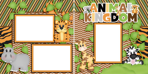 Animal Kingdom - Digital Scrapbook Pages - INSTANT DOWNLOAD