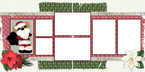 Tear Bear Christmas - Digital Scrapbook Pages - INSTANT DOWNLOAD