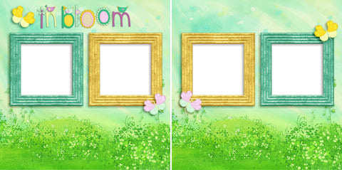 In Bloom - Digital Scrapbook Pages - INSTANT DOWNLOAD