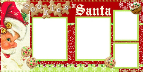 Cookies for Santa - Digital Scrapbook Pages - INSTANT DOWNLOAD
