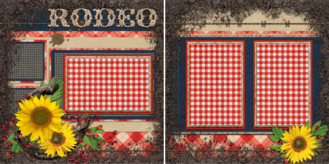 Rodeo - 409 - EZscrapbooks Scrapbook Layouts Western - Cowboy