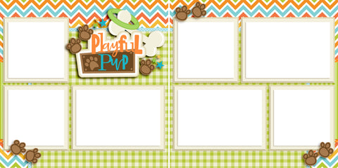 Playful Pup - Digital Scrapbook Pages - INSTANT DOWNLOAD