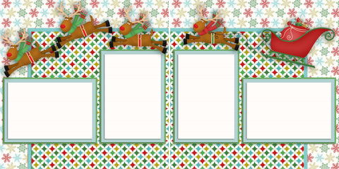 Santa's Sleigh - 2350 - EZscrapbooks Scrapbook Layouts Christmas