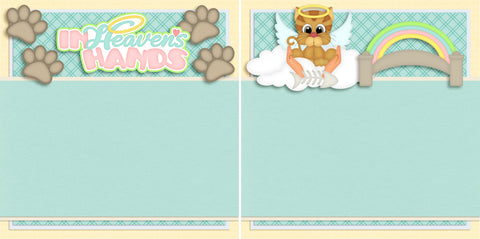 In Heaven's Hands Cat NPM - 2722 - EZscrapbooks Scrapbook Layouts Pets