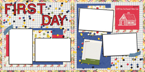 First Day - Digital Scrapbook Pages - INSTANT DOWNLOAD