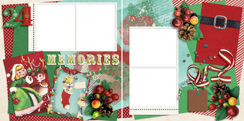 Vintage Christmas Memories - Digital Scrapbook Pages - INSTANT DOWNLOAD - 2019