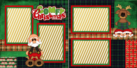 Another Comfy Christmas - 932 - EZscrapbooks Scrapbook Layouts Christmas