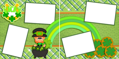 Lucky - St Patrick's Day - Digital Scrapbook Pages - INSTANT DOWNLOAD - 2019