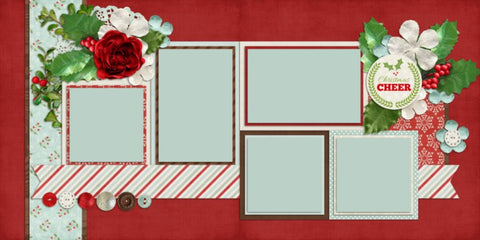 Christmas Cheer - 576 - EZscrapbooks Scrapbook Layouts Christmas, seasons