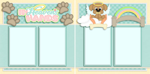 In Heaven's Hands Dog - 2723 - EZscrapbooks Scrapbook Layouts Pets