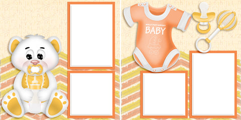Adorable Baby Yellow - Digital Scrapbook Pages - INSTANT DOWNLOAD - 2019