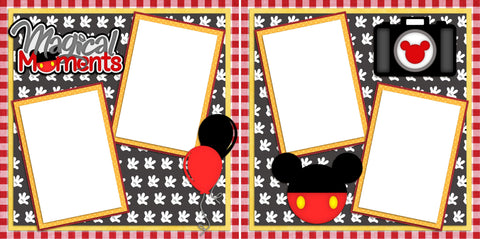 Magical Moments -Digital Scrapbook Pages - INSTANT DOWNLOAD - EZscrapbooks Scrapbook Layouts Disney