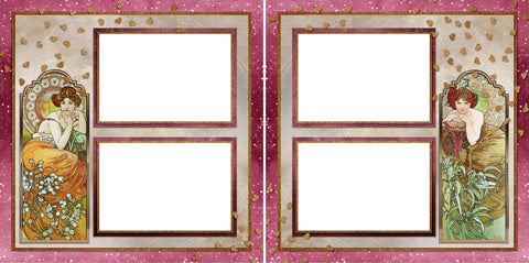Art Deco - Digital Scrapbook Pages - INSTANT DOWNLOAD - 2019