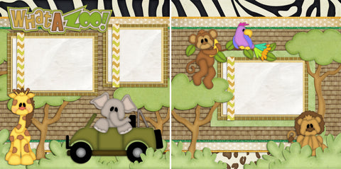 What a Zoo - 983 - EZscrapbooks Scrapbook Layouts Animals, Baby - Toddler