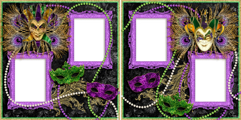 Fat Tuesday - Digital Scrapbook Pages - INSTANT DOWNLOAD
