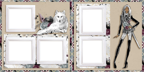 Winter is Coming - Digital Scrapbook Pages - INSTANT DOWNLOAD
