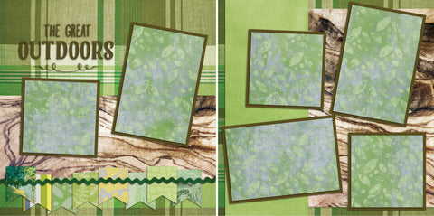 Great Outdoors - 2095 - EZscrapbooks Scrapbook Layouts Camping - Hiking, Hunting - Fishing, Summer
