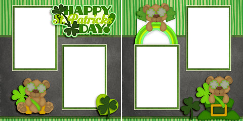 Happy St Patrick's Day - Digital Scrapbook Pages - INSTANT DOWNLOAD