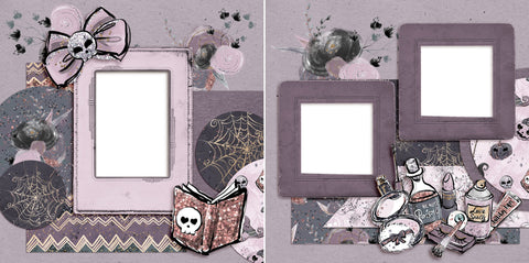 Getting BOO-tiful - Digital Scrapbook Pages - INSTANT DOWNLOAD - EZscrapbooks Scrapbook Layouts Halloween