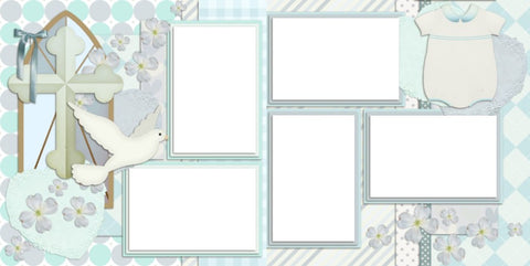 Baptism Boy - Digital Scrapbook Pages - INSTANT DOWNLOAD