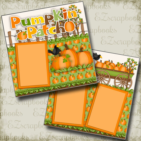 Pumpkin Patch - 2342 - EZscrapbooks Scrapbook Layouts Fall - Autumn