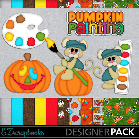 Pumpkin Painting - Halloween - Digital Kit - INSTANT DOWNLOAD