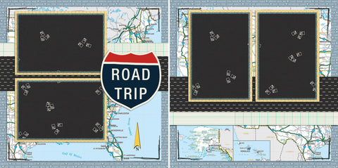 Road Trip - 110 - EZscrapbooks Scrapbook Layouts Camping - Hiking, Vacation