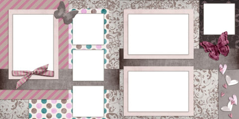 Romance - Digital Scrapbook Pages - INSTANT DOWNLOAD - EZscrapbooks Scrapbook Layouts Baby - Toddler, Girls