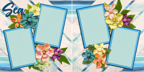 Sea - 2078 - EZscrapbooks Scrapbook Layouts Summer, Vacation
