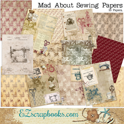 Mad About Sewing Journal Paper Pack - 7148