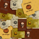 Spooky Seed Packets - 7226 - EZscrapbooks Scrapbook Layouts Halloween