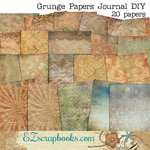 Grunge Journal Paper Pack - 7024