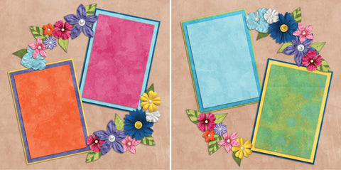 Flower Girl - 2104 - EZscrapbooks Scrapbook Layouts Spring - Easter, Summer