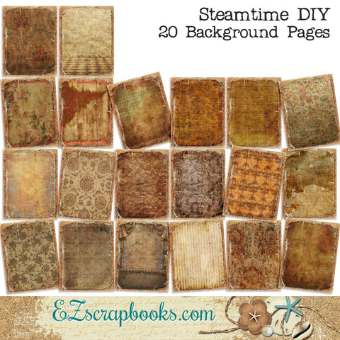 Steamtime Journal Paper Pack - 7016