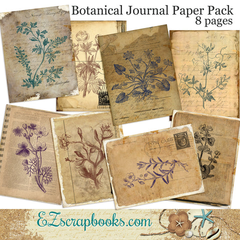 Botanical Journal Paper Pack - 7028