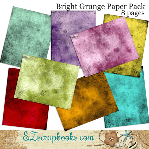 Bright Grunge Journal Paper Pack - 7029