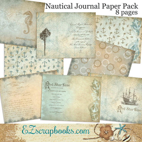 Nautical Journal Paper Pack - 7041