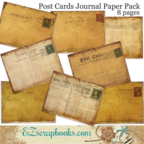 Postcard Journal Paper Pack - 7042