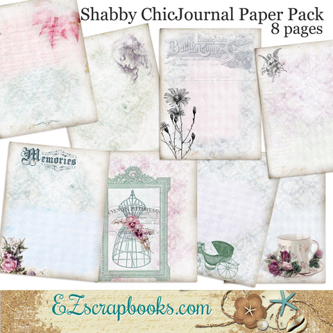 Shabby Chic Journal Paper Pack - 7044
