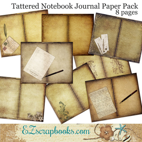 Tattered Notebook Journal Paper Pack - 7052