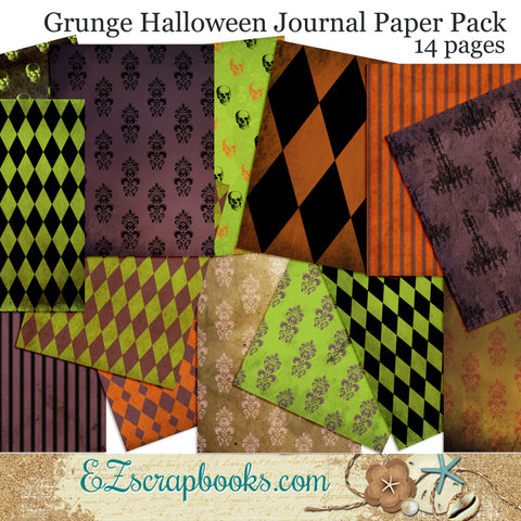 Grunge Halloween Journal Paper Pack - 7059