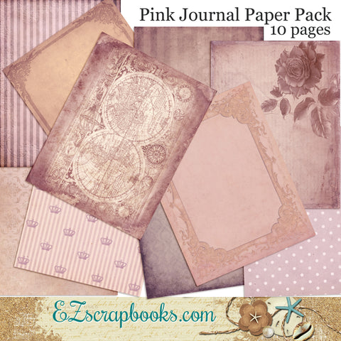 Pink Journal Paper Pack - 7064