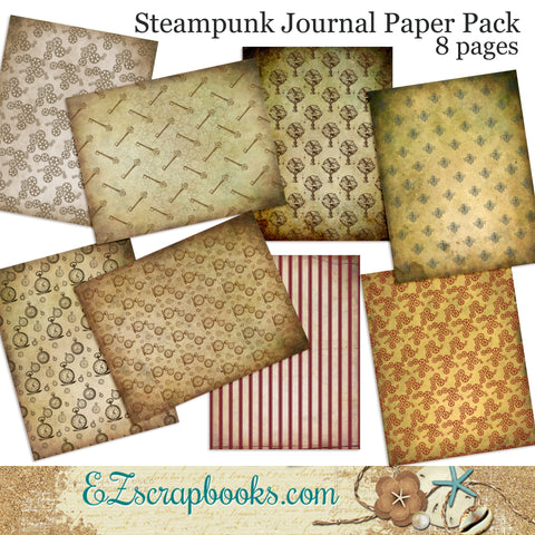 Steampunk Journal Paper Pack - 7067