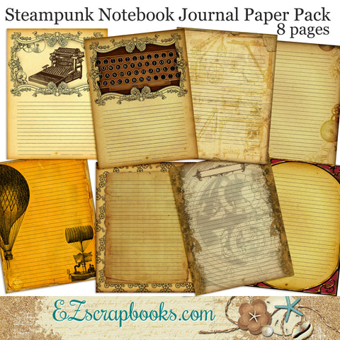 Steampunk Notebook Journal Paper Pack - 7069