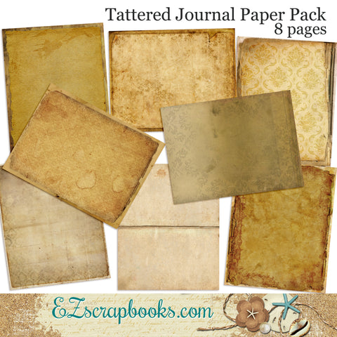 Tattered Journal Paper Pack - 7070