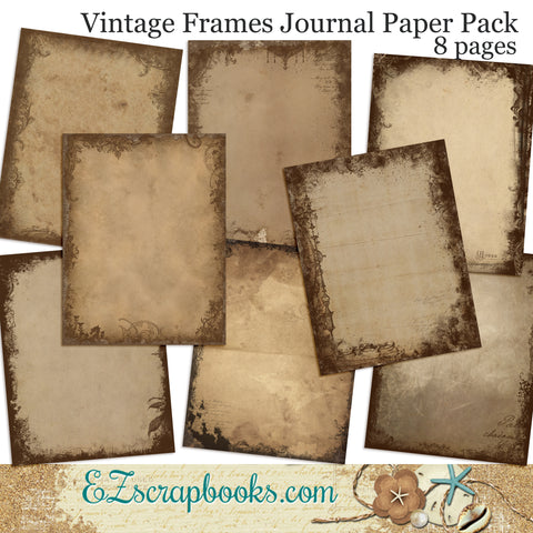 Vintage Frames Journal Paper Pack - 7075